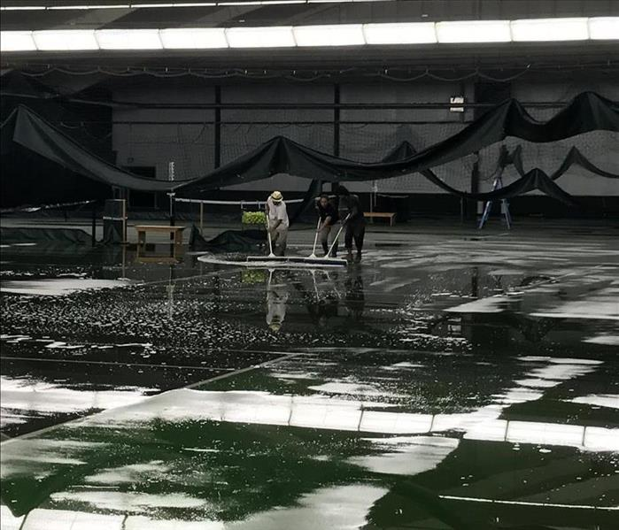 Storm Damage Serving up Some Help from Water Damage at a Tennis Facility